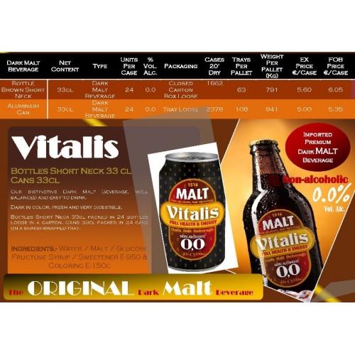 VITALIS MALT 24BOUT 33CL C.E.E.
