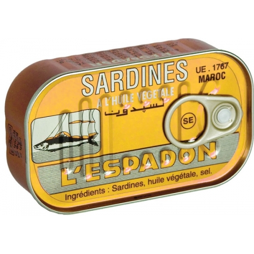 SARDINES ESPADON 125 GR